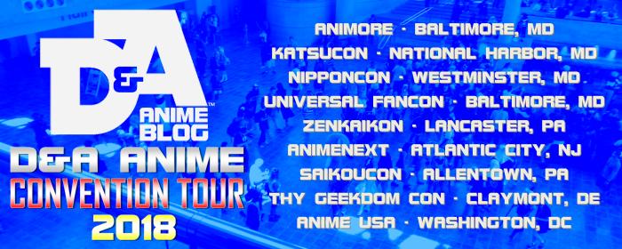 D&A Anime Tour 2018 Banner